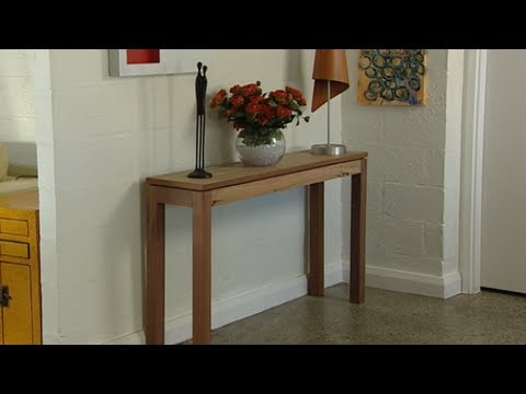 How to Build a Console Table - YouTube
