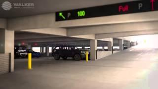 Walker Parking Consultants - William P. Hobby Airport Parking Garage video model