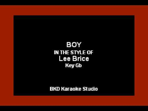 Lee Brice - Boy (Karaoke Version)