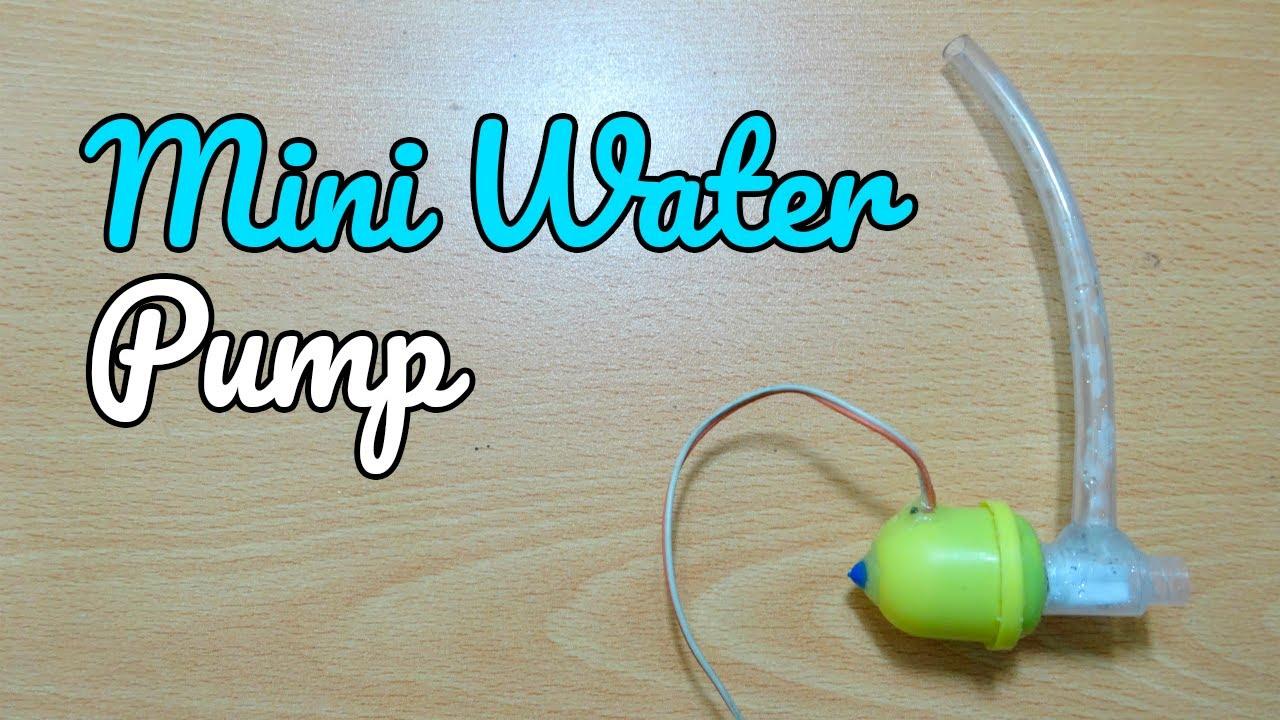 C mo hacer una mini bomba de agua casera f cil de hacer - Bombas de agua sumergibles pequenas ...
