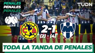 Toda la tanda de penalties | América 2 (2) - (4) 1 Monterrey | Final Vuelta - Liga MX  AP 19 | TUDN