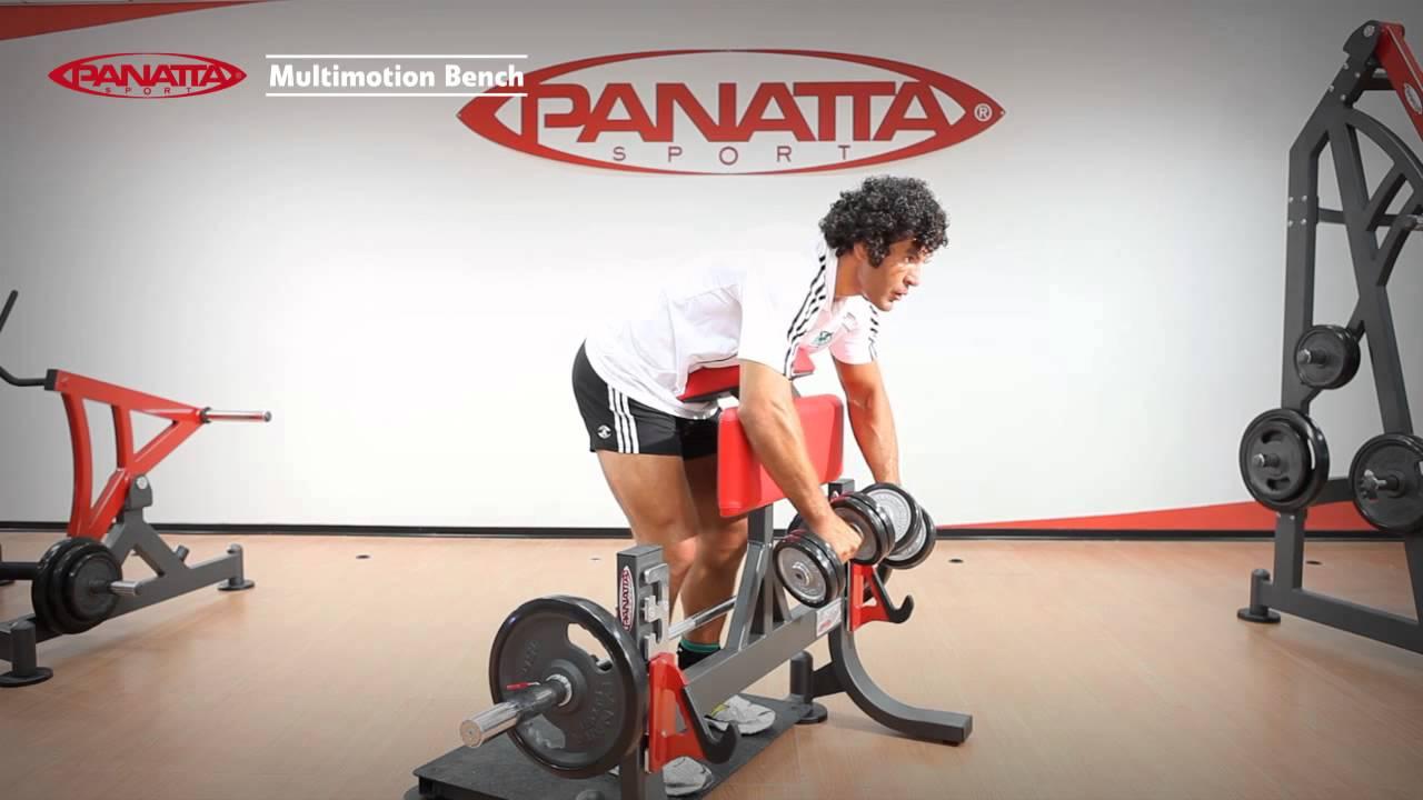 Panatta Sport Free Weight Multimotion Bench En Youtube