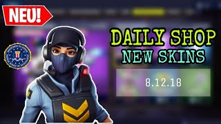 FORTNITE DAILY ITEM SHOP 8.12.18 | NEUER FBI SKIN IST DA!!