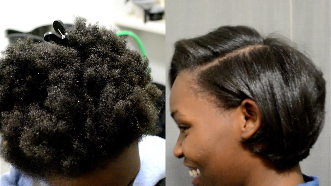 silk blowout 4c natural hair