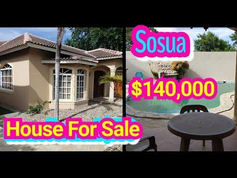 HOUSE FOR SALE IN SOSUA THE DOMINICAN REPUBLIC || HOUSE WITH POOL FOR SALE IN SOSUA | LIVE IN THE DR