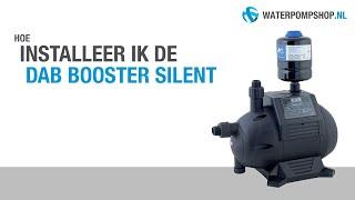 DAB Booster Silent Hydrofoorpomp - Installatie drukvat: Manier 1