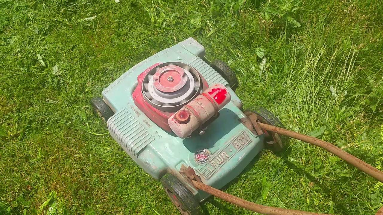 1950's lawn boy rpm push mower iron horse running lawnboy