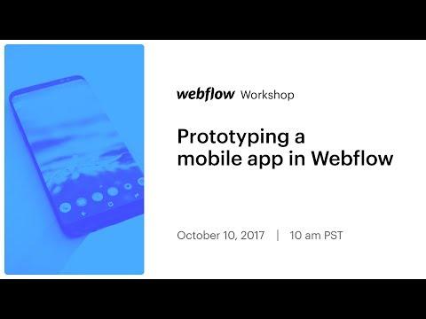 Prototyping a mobile app in Webflow