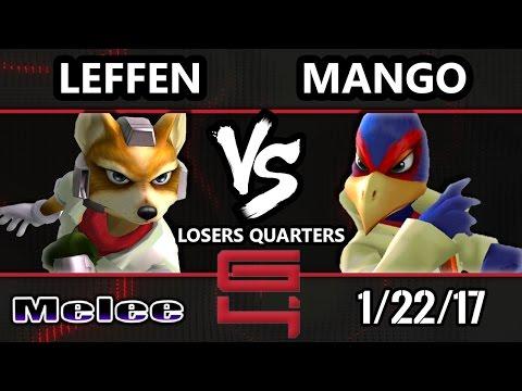 Genesis 4 SSBM - TSM RB   Leffen (Fox) Vs. C9 Mango (Falco) Smash Melee Losers Quarters