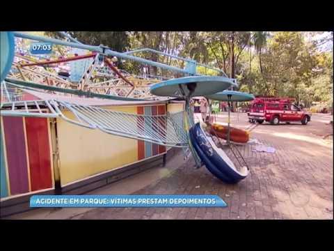 Mulher que gravou acidente em parque de diversões presta depoimento à polícia
