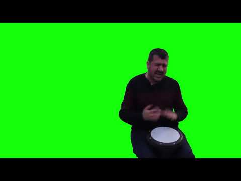 Ievan Polkka Street-Drummer meme Green screen