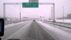 Snowfall thursday 5th february in Tuusulanväylä