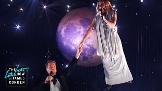 'Up Where We Belong' - Aerial Duet w/ Kristen Bell by : The Late Late Show with James Corden