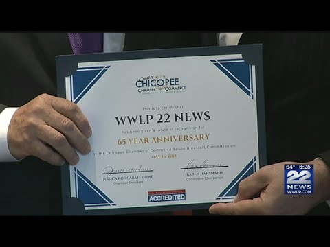 22News and Bob Charland honored by Chicopee Chamber of Commerce