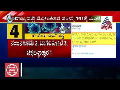 Health Minister B Sriramulu Tweet | Karnataka Records 6th Death, Total Cases 191
