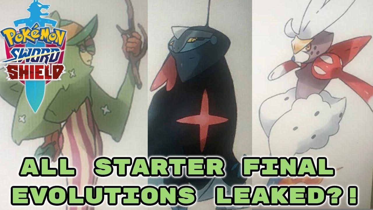 Huge Pokemon Sword And Shield Starter Evolution Leak Final