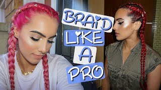 HOW TO FRENCH/DUTCH BRAID FOR BEGINNERS | BodmonZaid