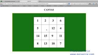 Hacer un juego de cajta de números con HTML5-CANVAS