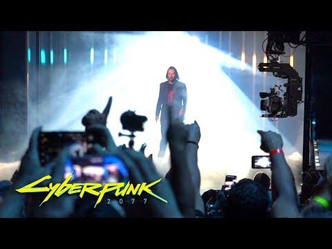 Cyberpunk 2077 Keanu Reeves Crowd Reaction - E3 2019