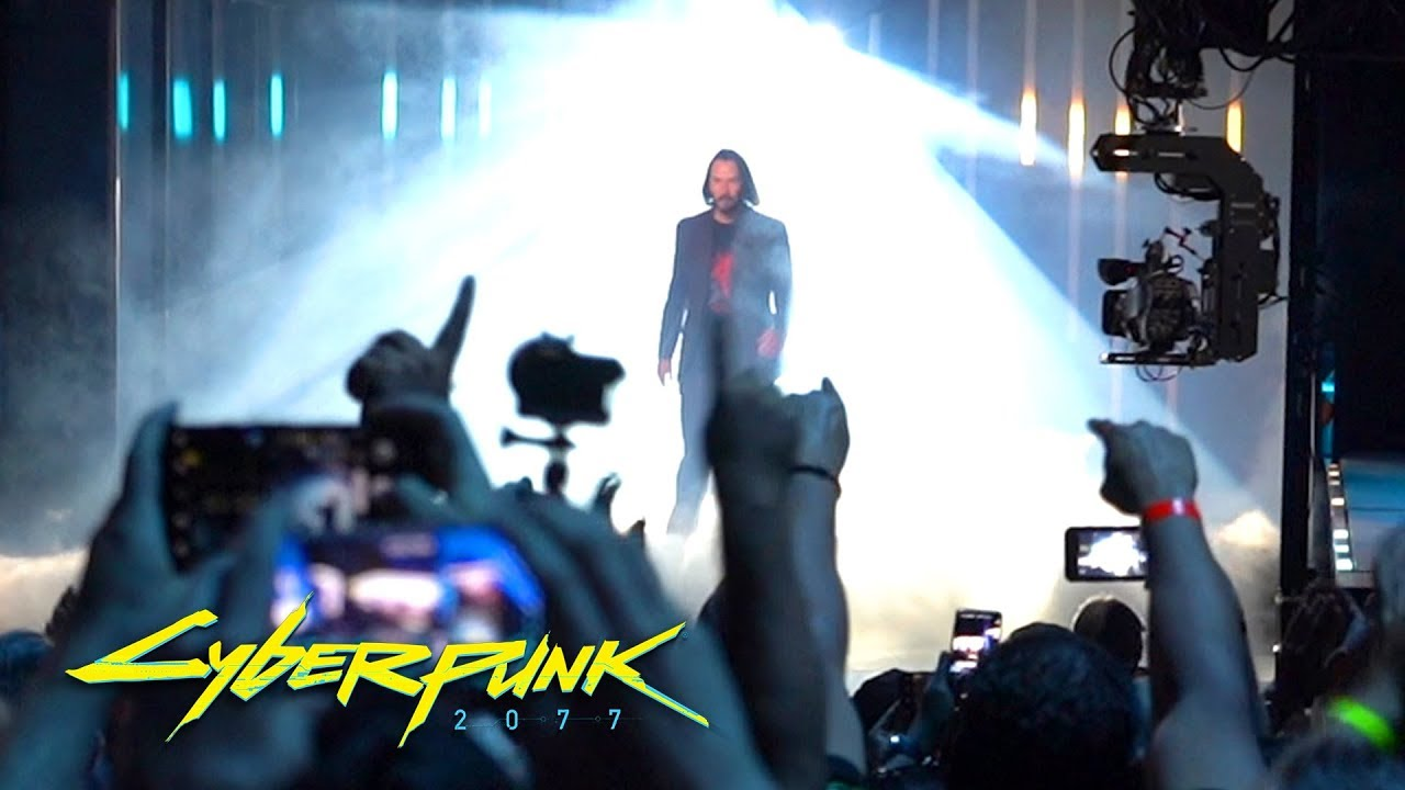 Cyberpunk 2077 Keanu Reeves Crowd Reaction - E3 2019 - Forge Labs