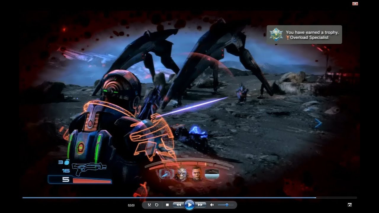 mass effect 3 overload specialist trophy youtube rh youtube com Mass Effect 3 BioWare Mass Effect Javik
