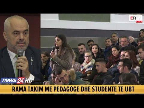 Studentja nxjerr zbuluar Edi Ramën: Rektori nga gënjeu, nuk na tha që do jesh ti i pranishëm këtu
