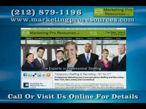 Staffing Agency in New York - Marketing Pro Resources