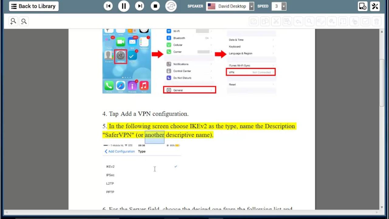 Set up SaferVPN IKEv2 on iOS