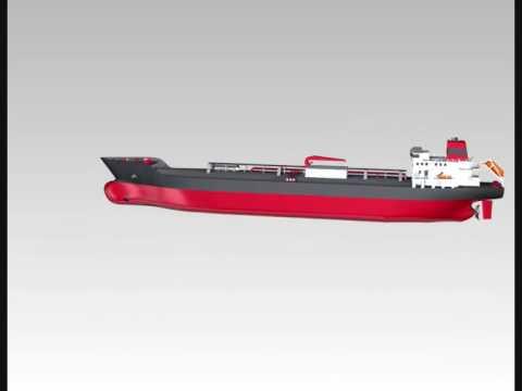 CAD LPG Tanker animation