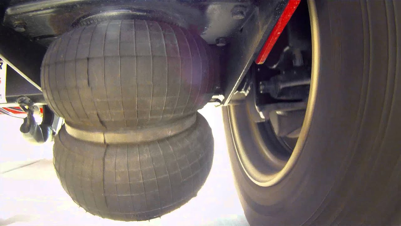 Sti Air Ride Trailer Suspension In Use Youtube
