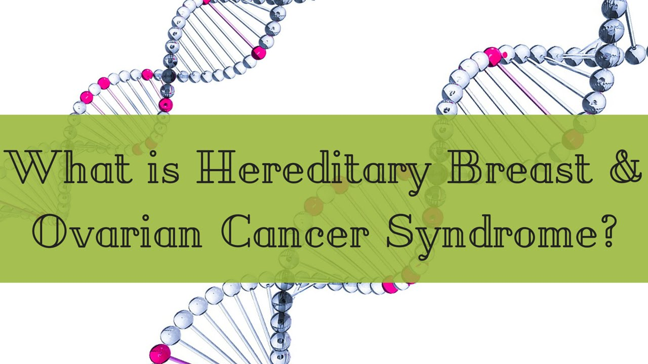 What Is Hereditary Breast And Ovarian Cancer Syndrome Youtube