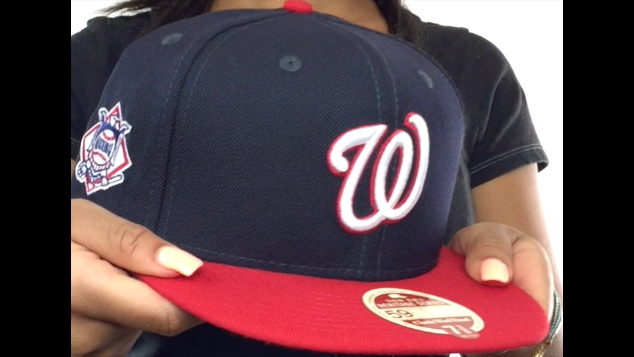 2ace13fdaf4 Nationals  MLB WOOL-STANDARD  Navy-Red Fitted Hat by New Era - YouTube