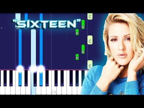 Ellie Goulding - Sixteen Piano Tutorial EASY