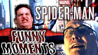 Spiderman PS4 Funny Moments #4! - Tobey Maguire meme face, Doc C**k, Iron Spider Suit!