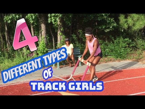 Four Different Types of Track Girls