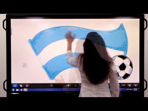 Argentina Soccer Flag Art on the Sharp AQUOS BOARD® Interactive Display