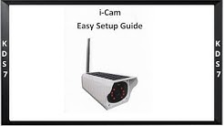 Solar Camera i-Cam Easy Setup Guide d'installation facile