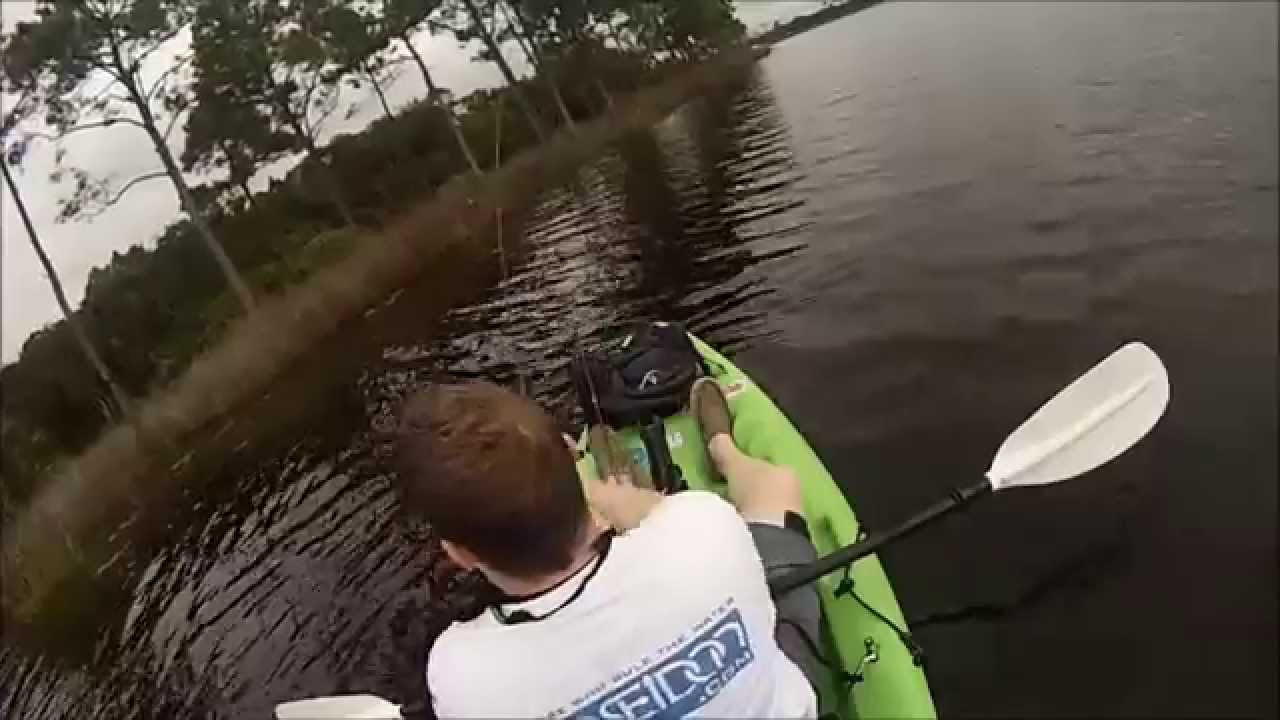 A bass on the Clearwater Mist 8 6 with the KastKing Kayak Rod out of  western lake Florida