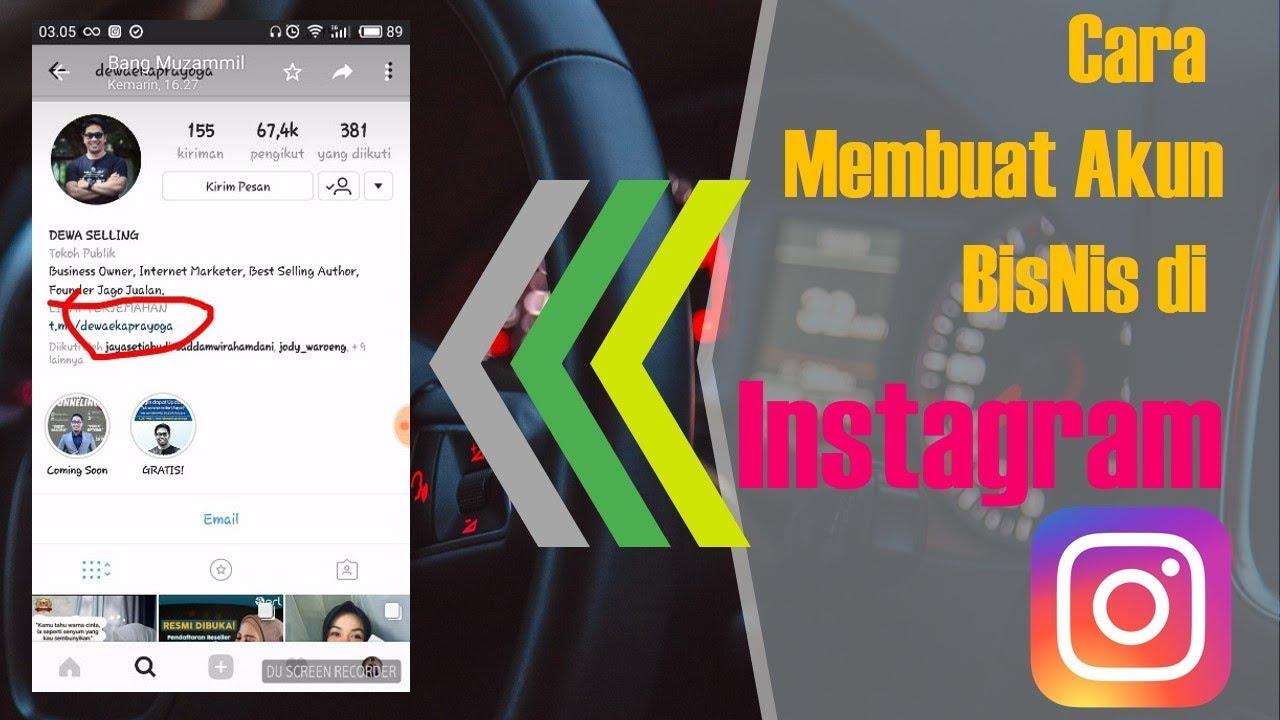 Cara Membuat Akun Bisnis di Instagram - Tutorial HP ...