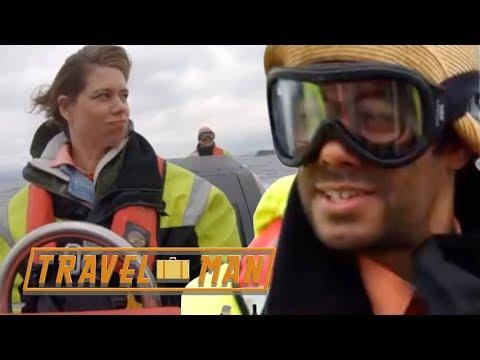 Lou Sanders & Richard's Bergen boat trip | Travel Man Extra