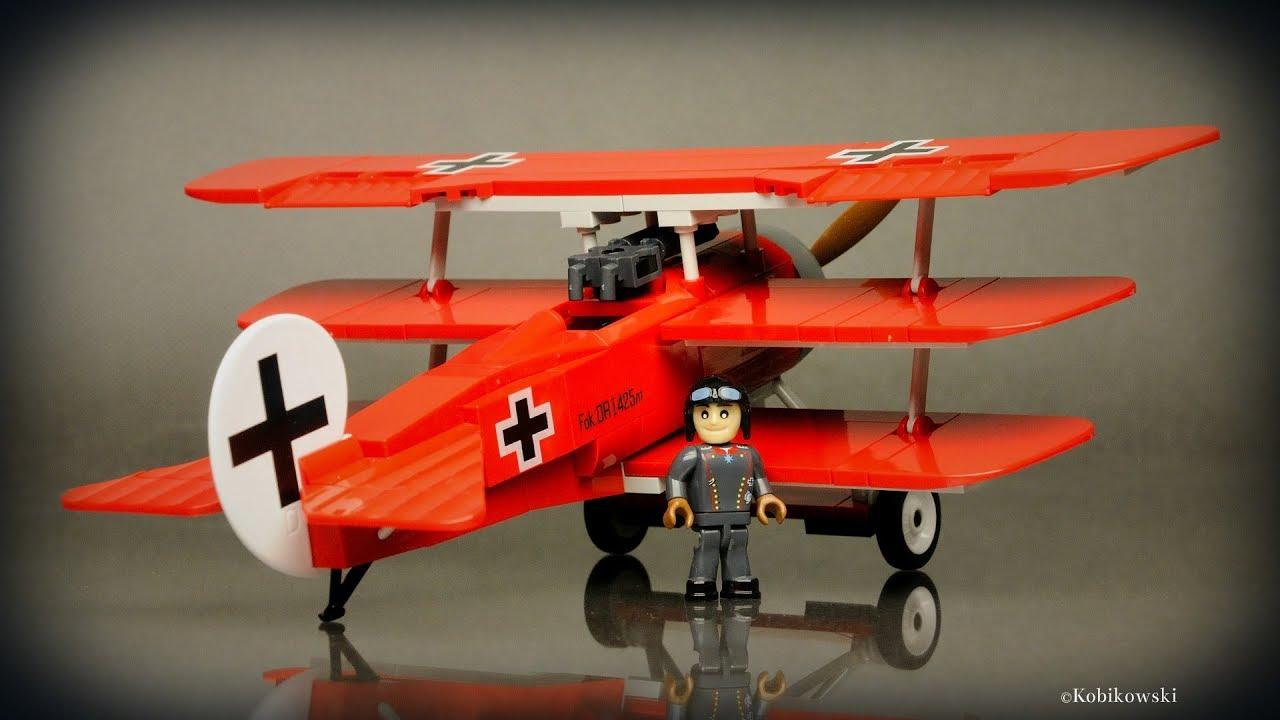 "COBI Fokker Dr.I ""Red Baron"" (2974) - recenzja - YouTube"
