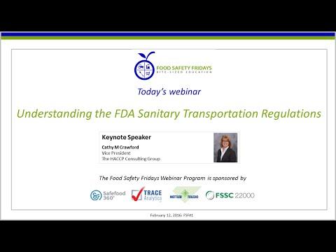 Understanding the FDA Sanitary Transportation Regulations