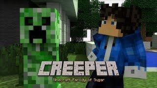 creeper minecraft parody of sugar by maroon 5 animated music video