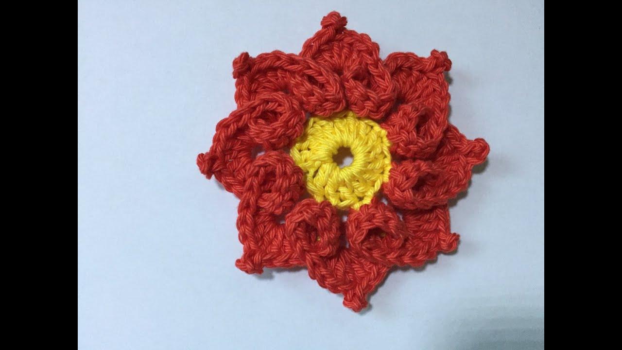 Tuto Fleur Coeur Au Crochet Spécial Gaucher