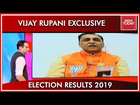 CM Of Gujarat Vijay Rupani Speaks To India Today On BJP&39;s Victory  Results 2019