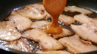 4 minutes MISO Pork dish (serving 2) 4分でできる味噌豚皿