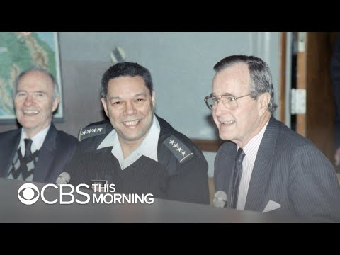 Colin Powell remembers 'tough' and 'cautious' George H.W. Bush