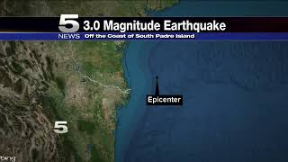 Earthquake Off the Coast of South Padre Island