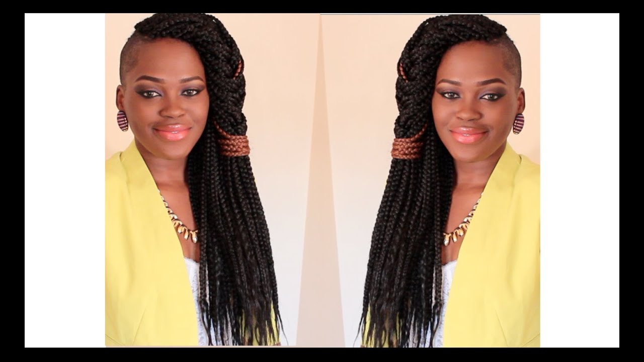 How To Do Box Braids Amp A Quick Style For Fresh Braids