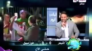 مشجع جزائري في مباراة تونس مصر في تصريح لقناة مصرية هههههههه  تموووووت بضحك